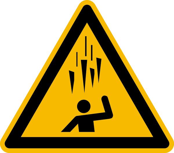 Warnzeichen, Warnung vor herabfallenden Eiszapfen W039 - ASR A1.3 (DIN EN ISO 7010)