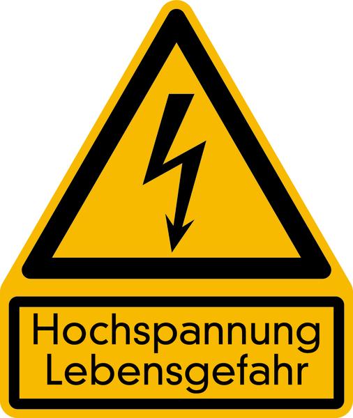 Warnzeichen Kombischild Hochspannung