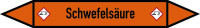 Rohrleitungskennzeichen Schwefelsäure