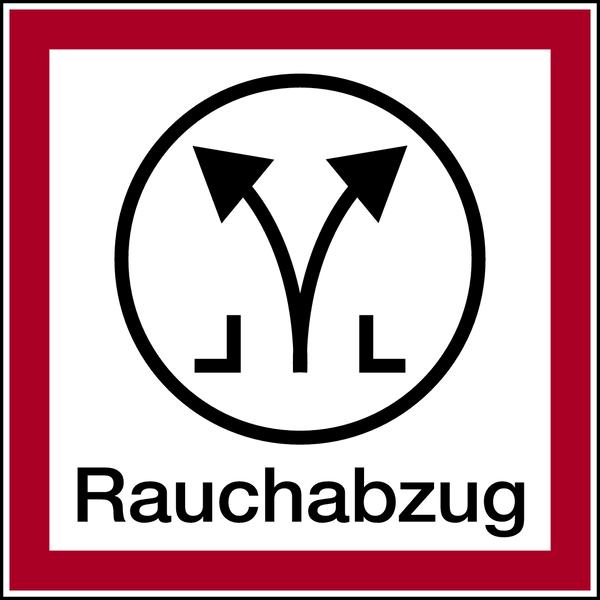 Brandschutzzeichen, Rauchabzug - angelehnt an DIN 4066