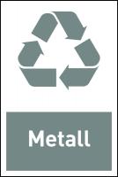 Design-Recyclingschild: Metall, Folie selbstklebend, 150 x 100 mm