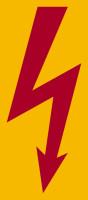Hinweisschild, Blitzpfeil VDE 0105 C ohne Rand, Folie
