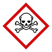 Gefahrstoffkennzeichnung GHS 06: Totenkopf mit gekreuzten Knochen - Rolle à 500 Stück