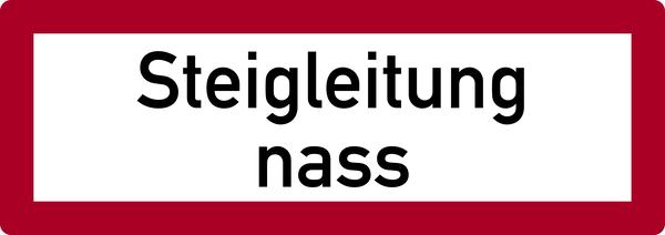 Brandschutzzeichen, Steigleitung nass - DIN 4066