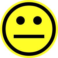 Papieretikett, Gelber Smiley - neutral - VE = Rolle à 100 Stk.