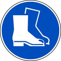 Gebotsschild, Fußschutz benutzen M008 - ASR A1.3 (DIN EN ISO 7010)