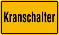 Hinweisschilder, Krane