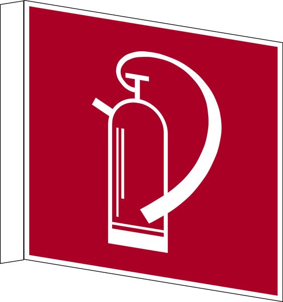 Brandschutzzeichen, Fahnen-/Nasenschild Feuerlöscher F 005 - DIN 4844