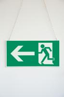 Rettungszeichen, Notausgang doppelseitig - DIN 4844
