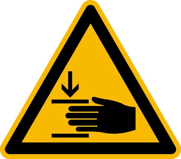 Warnzeichen, Warnung vor Handverletzungen D-W027 - DIN 4844/BGV A8