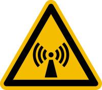 Warnzeichen, Warnung vor nicht ionisierender Strahlung W005 - ASR A1.3 (DIN EN ISO 7010)