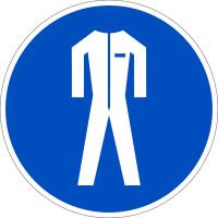 Gebotszeichen, Schutzkleidung benutzen D-M007 - DIN 4844/BGV A8