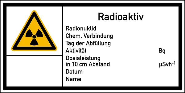 Warnschild Strahlenschutz Radioaktiv (E20)
