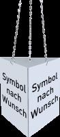 Rettungszeichen, Prismenschild nach Wunsch zur Deckenmontage