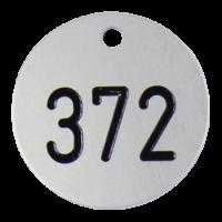 Kennzeichnungsmarke, Aluminium eloxiert, mit Gravur