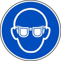 Gebotsschild, Augenschutz benutzen M004 - ASR A1.3 (DIN EN ISO 7010)