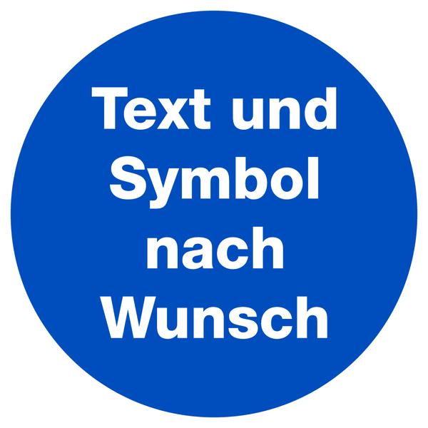 Gebotsschilder mit Text nach Wunsch