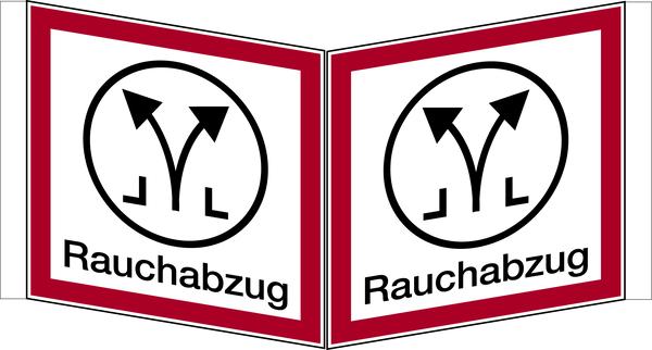 Brandschutzzeichen, Winkelschild Rauchabzug - angelehnt an DIN 4066