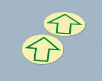 Langnachleuchtende Bodenmarkierungspunkte mit Pfeil, 1 VE = 12 Stück