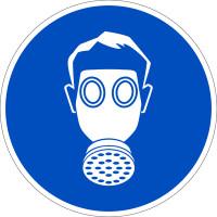 Gebotszeichen, Atemschutz benutzen D-M004 - DIN 4844/BGV A8
