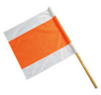 Warnflagge, weiß/orange/weiß
