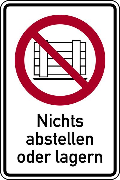 Kombischild, Nichts abstellen oder lagern - ASR A1.3 (DIN EN ISO 7010)
