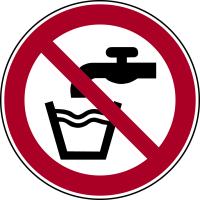 Verbotszeichen, Kein Trinkwasser P005 - ASR A1.3 (DIN EN ISO 7010)