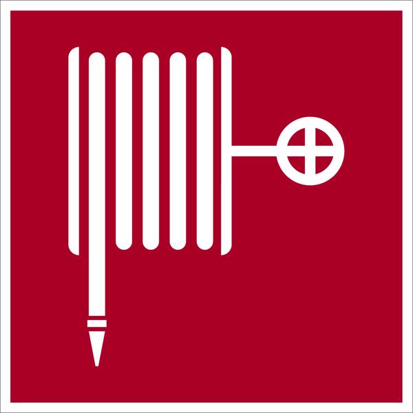 Brandschutzzeichen, Löschschlauch D-F003 - DIN 4844