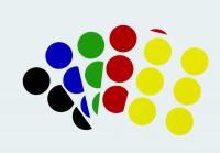 Klebepunkte/Markierungspunkte, verschiedene Farben, auf Bogen - VE = 100 Stk.