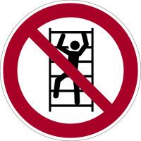 Verbotszeichen, Aufsteigen verboten P009 - ASR A1.3 (DIN EN ISO 7010)