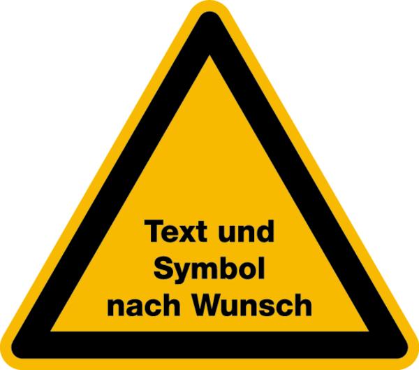 Warnschilder mit Text nach Wunsch