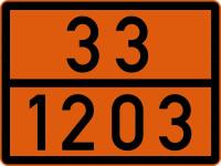 Gefahrguttafel, Benzin oder Super, 300x400mm, Stahlblech