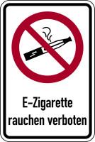 Verbotsschild, Kombischild, E-Zigarette rauchen verboten, praxisbewährt
