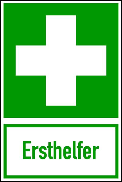 Rettungszeichen, Kombischild Ersthelfer - ASR A1.3 (DIN EN ISO 7010)
