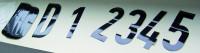 Magnetbuchstaben und -ziffern, schwarz - verschiedene Größen