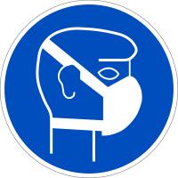 Gebotszeichen, Staubmaske benutzen - praxisbewährt