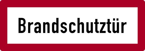 Brandschutzzeichen, Brandschutztür - DIN 4066