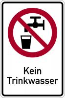Kombischild, Kein Trinkwasser - DIN 4844