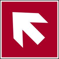 Brandschutzzeichen, Richtungspfeil schräg - ASR A1.3 (DIN EN ISO 7010)