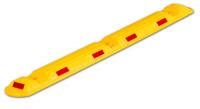 Park- und Leitschwelle, 50x150x1170mm, gelb/weiß