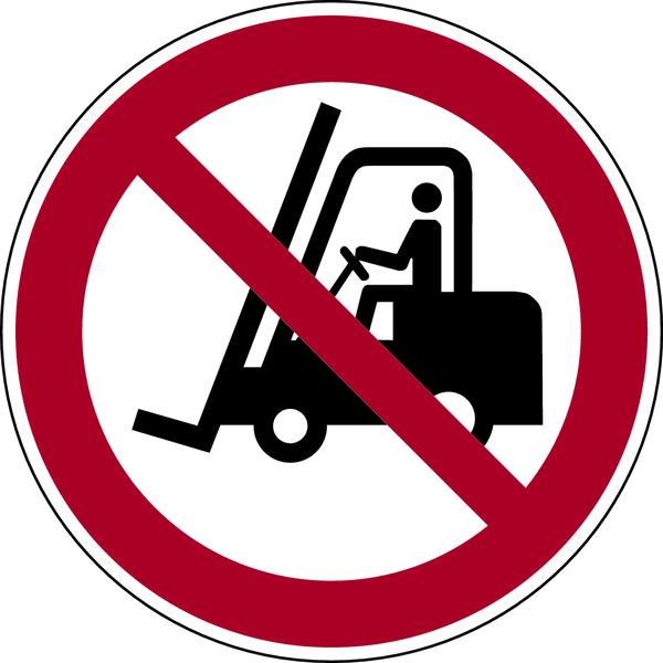 Verbotszeichen, Für Flurförderzeuge verboten P006 - ASR A1.3 (DIN EN ISO 7010)