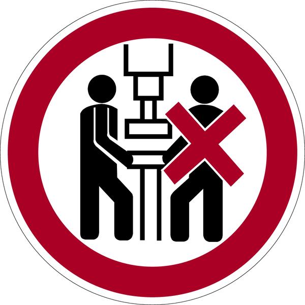 Verbotszeichen, Maschine darf nur von einer Person bedient werden - praxisbewährt