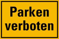 Hinweisschild, Parken verboten, 200x300mm, Kunststoff