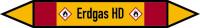 Rohrleitungskennzeichen Erdgas HD