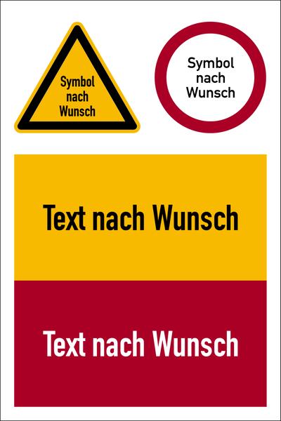 Kombischild Warnung/Verbot nach Wunsch
