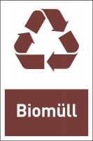Design-Recyclingschild: Biomüll, Folie selbstklebend, 150 x 100 mm