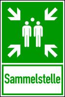 Rettungszeichen, Kombischild Sammelstelle - ASR A1.3 (DIN EN ISO 7010)
