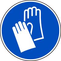 Gebotszeichen, Handschutz benutzen M009 - ASR A1.3 (DIN EN ISO 7010)