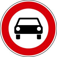 Verkehrszeichen - Verbot für Kraftwagen, Zeichen 251