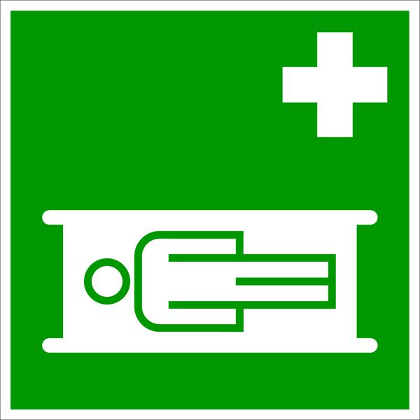 Rettungszeichen, Krankentrage E004 - DIN 4844